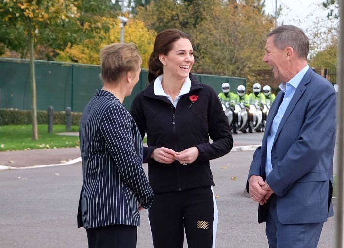 Kate arrives at National Tennis Centre