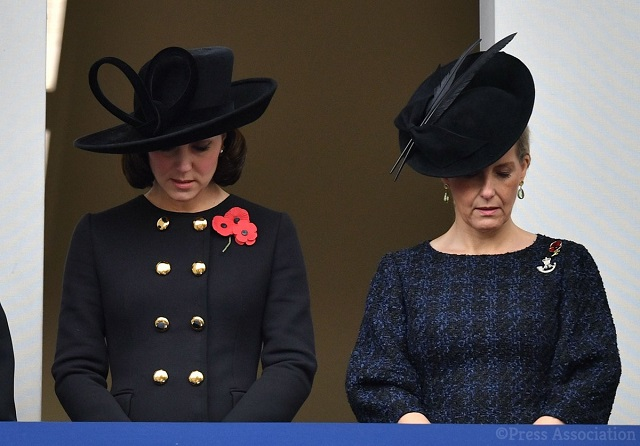 Kate, Sophie Remembrance Sunday 2017 s