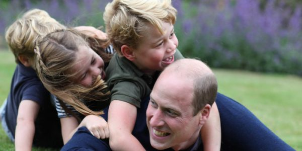 New photos of Cambridge kids with William for Father's Day